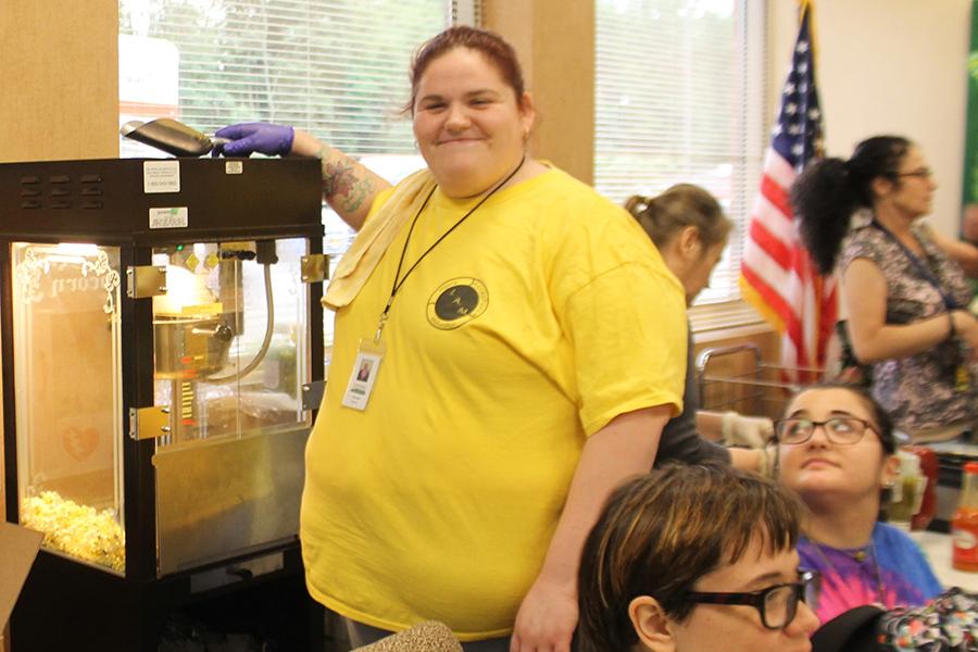 Living Resources Brain Food Cafe Program Serving Popcorn
