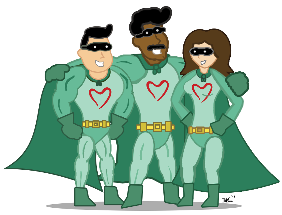 Living Resources Superhero Trio