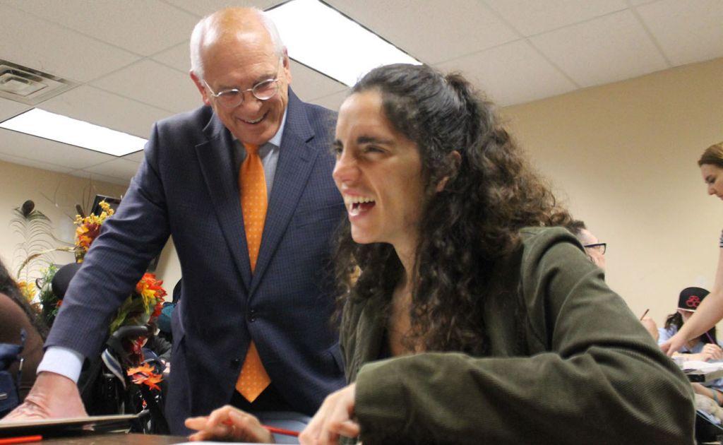 Congressman Paul Tonko Visits Members at Living Resources