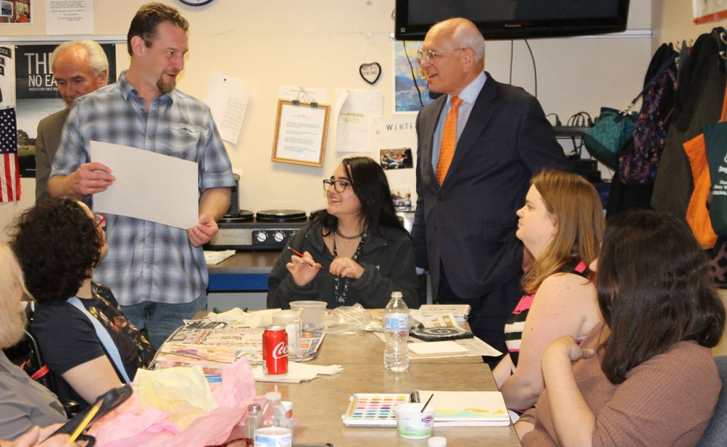 Congressman Paul Tonko Visits Employees at Living Resources